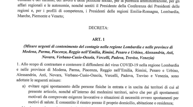 Decreto e della lettera esplicativa di Confindustria